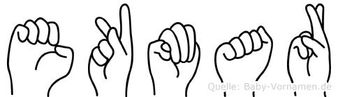 Ekmar im Fingeralphabet der Deutschen Gebärdensprache