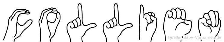 Collien im Fingeralphabet der Deutschen Gebärdensprache