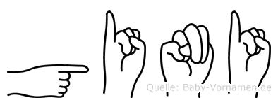 Gini im Fingeralphabet der Deutschen Gebärdensprache