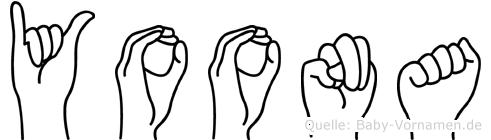 Yoona in Fingersprache für Gehörlose