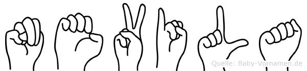 Nevila in Fingersprache für Gehörlose