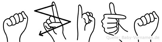 Azita in Fingersprache für Gehörlose