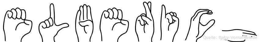 Elberich im Fingeralphabet der Deutschen Gebärdensprache