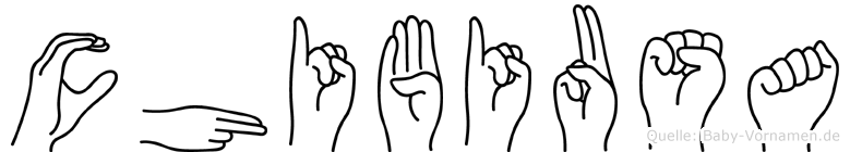 Chibiusa im Fingeralphabet der Deutschen Gebärdensprache