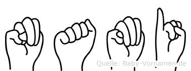 Nami in Fingersprache für Gehörlose