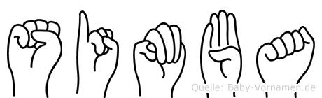 Simba in Fingersprache für Gehörlose