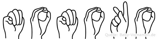 Momoko in Fingersprache für Gehörlose