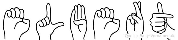 Elbert im Fingeralphabet der Deutschen Gebärdensprache