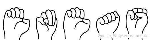 Eneas im Fingeralphabet der Deutschen Gebärdensprache