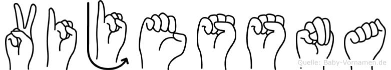Vijessna in Fingersprache für Gehörlose