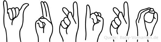 Yukiko im Fingeralphabet der Deutschen Gebärdensprache