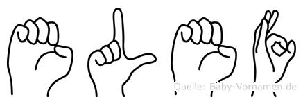 Elef im Fingeralphabet der Deutschen Gebärdensprache