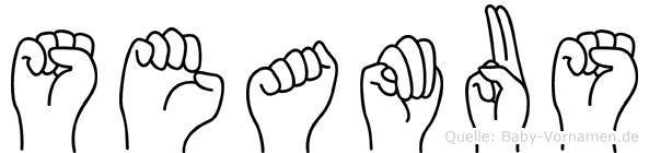 Seamus im Fingeralphabet der Deutschen Gebärdensprache