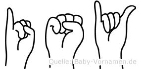 Isy in Fingersprache für Gehörlose