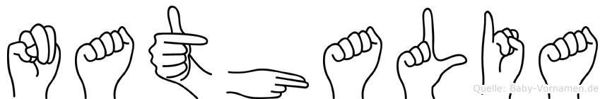 Nathalia im Fingeralphabet der Deutschen Gebärdensprache
