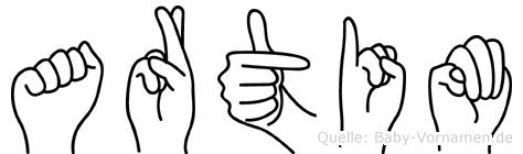 Artim in Fingersprache für Gehörlose