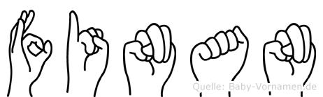 Finan in Fingersprache für Gehörlose