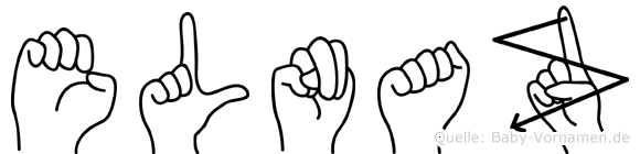 Elnaz im Fingeralphabet der Deutschen Gebärdensprache