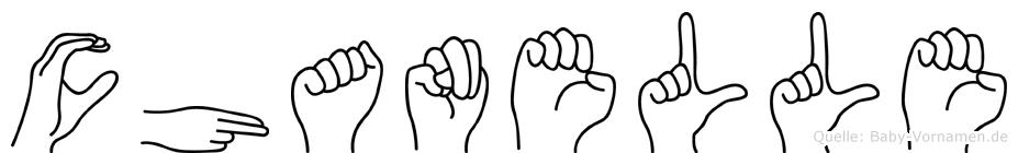 Chanelle in Fingersprache für Gehörlose