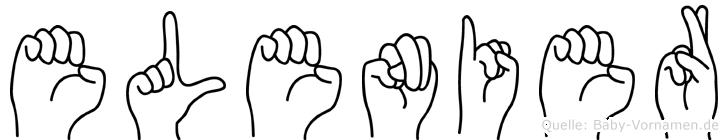 Elenier in Fingersprache für Gehörlose