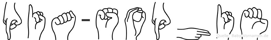 Pia-Sophie im Fingeralphabet der Deutschen Gebärdensprache