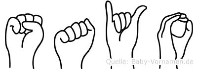Sayo in Fingersprache für Gehörlose