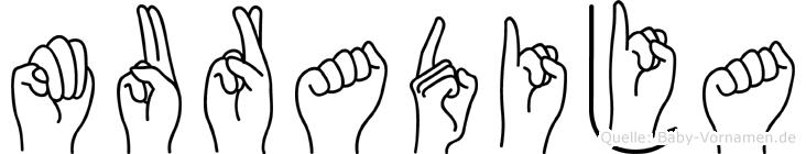 Muradija in Fingersprache für Gehörlose