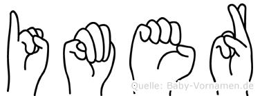 Imer in Fingersprache für Gehörlose