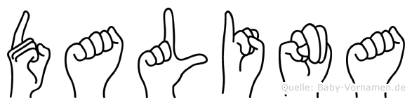 Dalina im Fingeralphabet der Deutschen Gebärdensprache