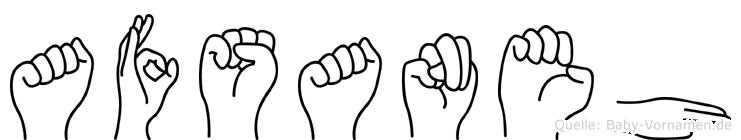 Afsaneh in Fingersprache für Gehörlose
