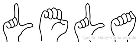 Lela in Fingersprache für Gehörlose