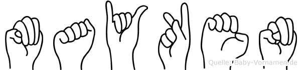 Mayken in Fingersprache für Gehörlose
