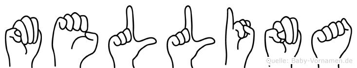 Mellina in Fingersprache für Gehörlose