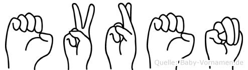 Evren im Fingeralphabet der Deutschen Gebärdensprache