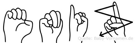 Eniz im Fingeralphabet der Deutschen Gebärdensprache