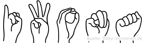 Iwona in Fingersprache für Gehörlose