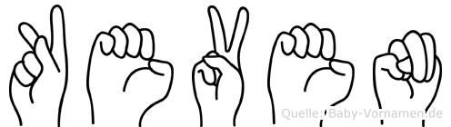 Keven im Fingeralphabet der Deutschen Gebärdensprache