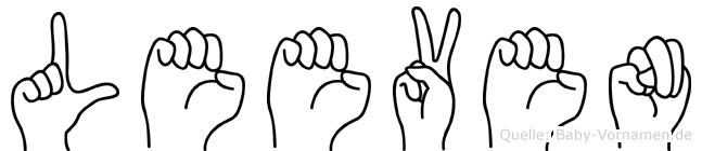 Leeven im Fingeralphabet der Deutschen Gebärdensprache