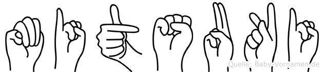 Mitsuki in Fingersprache für Gehörlose