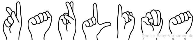 Karlina im Fingeralphabet der Deutschen Gebärdensprache