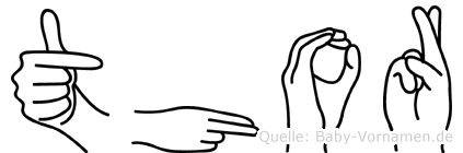 Thor im Fingeralphabet der Deutschen Gebärdensprache