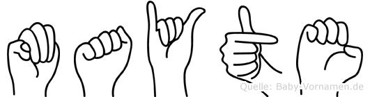 Mayte in Fingersprache für Gehörlose
