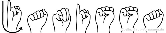 Janissa im Fingeralphabet der Deutschen Gebärdensprache