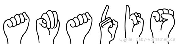 Amadis in Fingersprache für Gehörlose