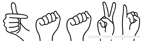 Taavi im Fingeralphabet der Deutschen Gebärdensprache