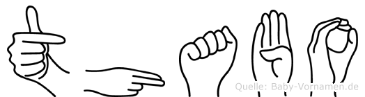 Thabo in Fingersprache für Gehörlose