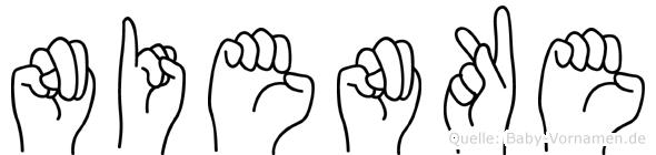 Nienke in Fingersprache für Gehörlose