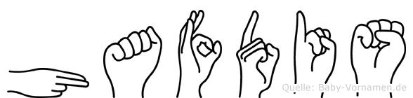 Hafdis im Fingeralphabet der Deutschen Gebärdensprache