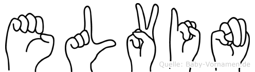 Elvin im Fingeralphabet der Deutschen Gebärdensprache