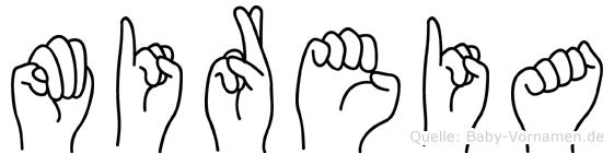 Mireia im Fingeralphabet der Deutschen Gebärdensprache